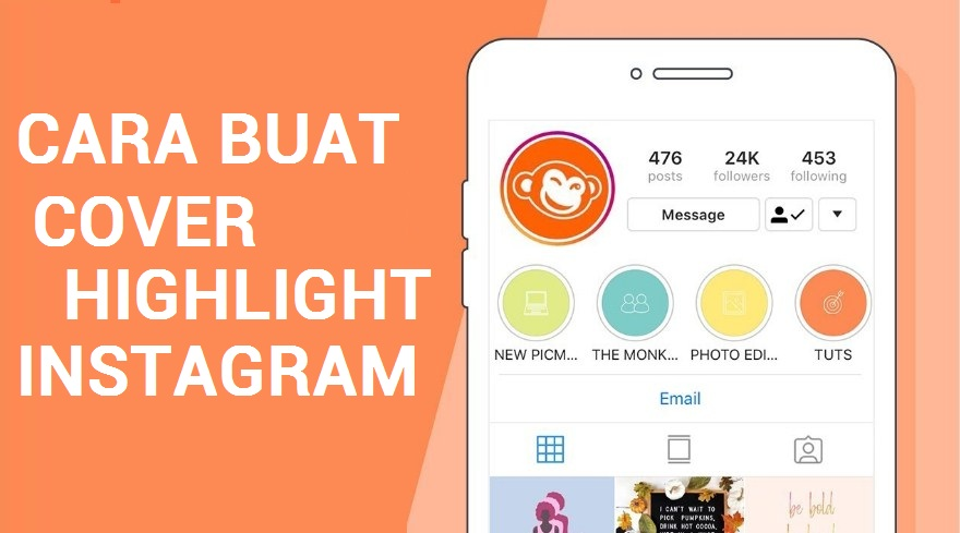 cara membuat cover highlight instagram