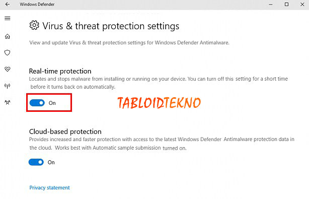 aktifkan windows defender