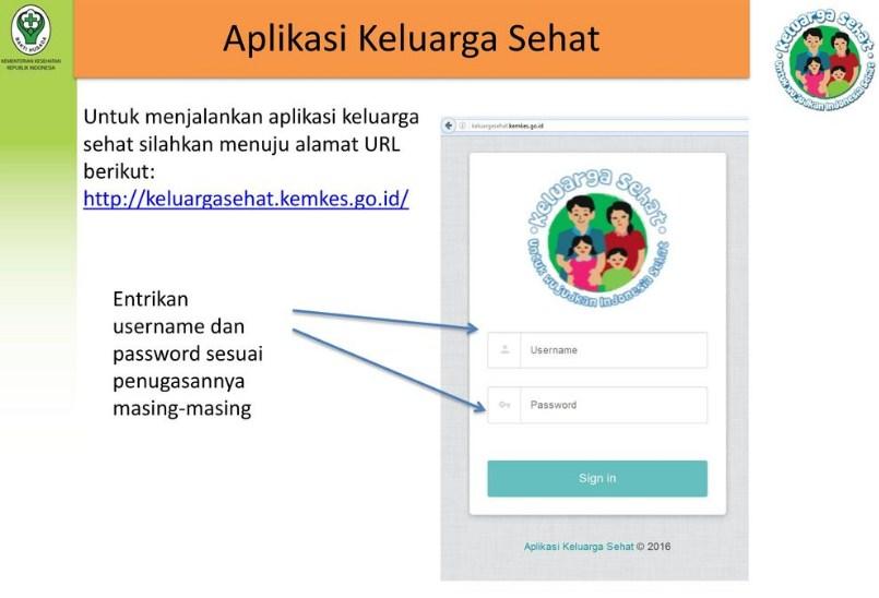 cara menggunakan aplikasi keluarga sehat