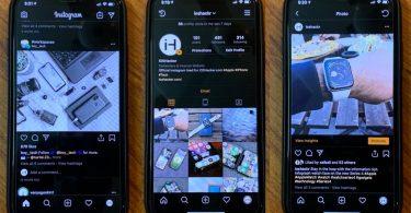 cara mengubah tampilan instagram menjadi hitam