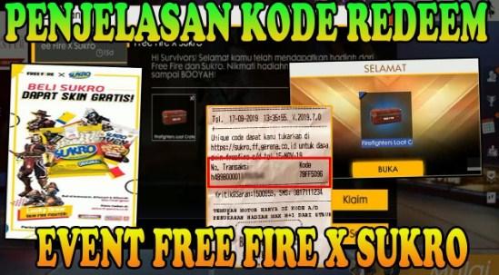 Sukro FF Garena, 5 Cara Redeem Kode Sukro Free Fire Terbaru