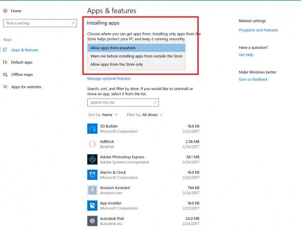 uninstall aplikasi windows 10