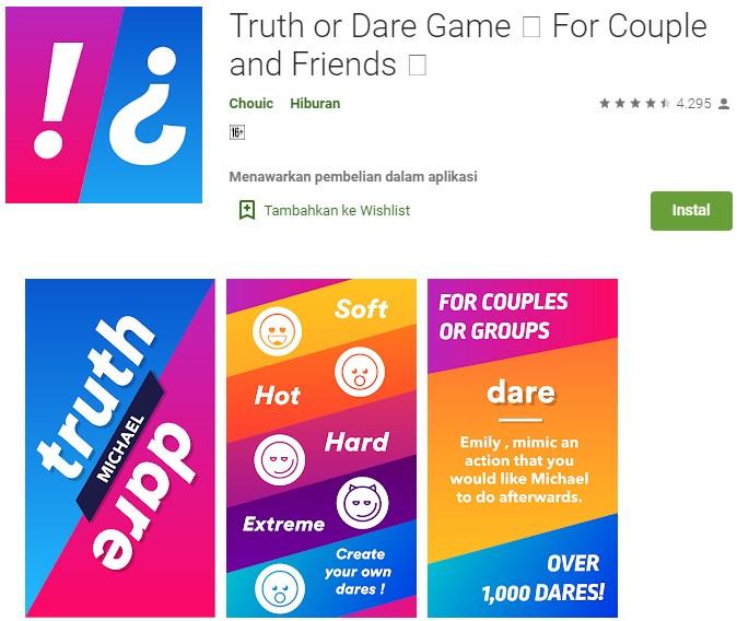 aplikasi game truth and dare