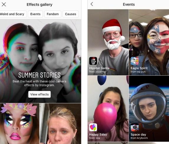 cara menambahkan efek baru di instagram
