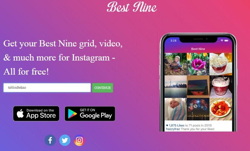 cara membuat best nine instagram 2019