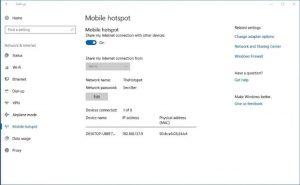 mobile hotspot windows 10 tidak bisa