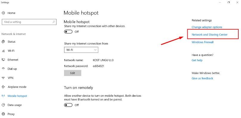 mobile hotspot windows 10 tidak bisa connect ke hp