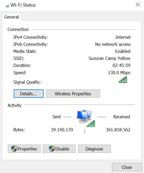 windows 10 mobile hotspot no internet