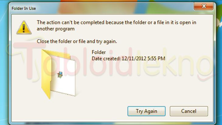 Menghapus File Yang Tidak Bisa Dihapus