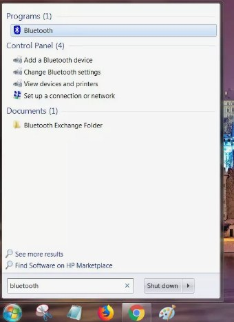 bluetooth windows 7