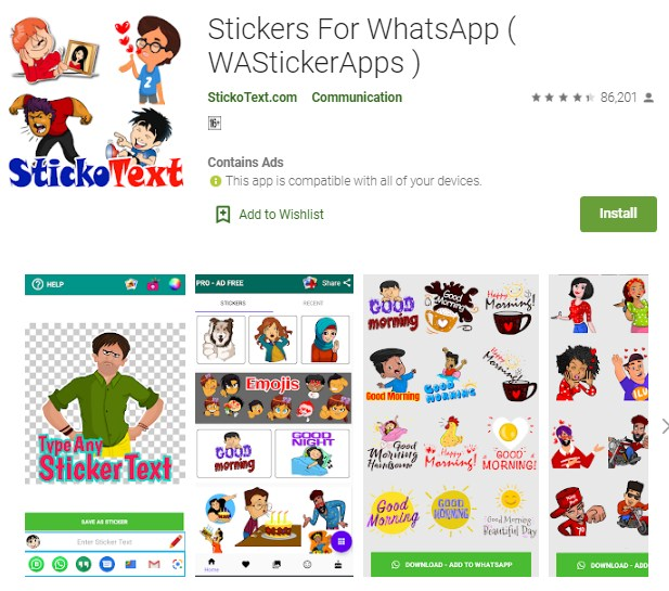cara menambahkan sticker whatsapp