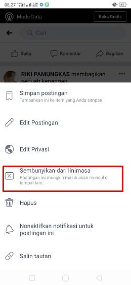cara sembunyikan foto facebook